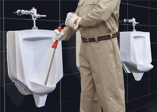 General Pipe Cleaner's professional urinal auger is designed to get through urinals when other snakes simply can't!