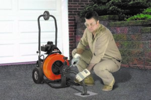 The new Sewerooter T-4 is a powerful drain cleaning machine that's easy to use and easy to move!