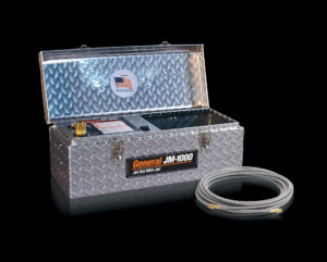 Stainless steel braid hose helps water jetters from General to access clogged pipes faster and more easily for quicker clog removal!